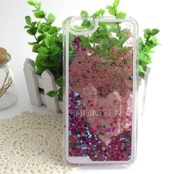 Liquid glitter bling star quicksand phone case for iphone 6 plus hard pc case
