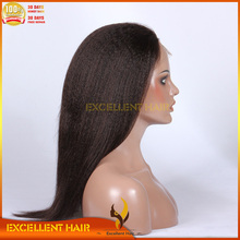 "Yaki straight 18"" natural color swiss lace Synthetic hair full lace wig"