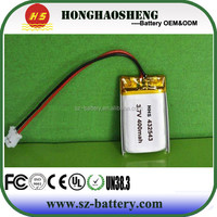 hot sale best price rechargeable lp 432543 3.7v 400mah battery for bluetooth
