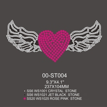 Beautiful Angel With Wings Design Rhinestone Stickers