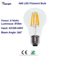 LED Filament Bulb A60 8W 810LM with CE Rohs