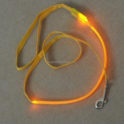 Fashion nylon retractable dog leash with led light