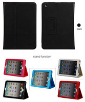 for ipad 4/ipad mini /ipad air high quality leather tablet case for smart tablet