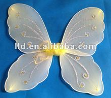 719053 YELLOW BEAUTIFUL SILK BUTTERFLY WING FOR CHILDREN