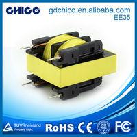 EE35 for DC-DC converter vertical type high voltage ferrite transformer