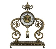 Europe Type Style Brass Pendulum Table Clock with Cheap Price JHF14-1979A