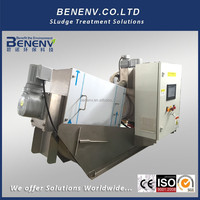 Industrial Wastewater Multiple Disc Screw Press Mobile Sludge Dewatering Clog-free Design (MDS101)