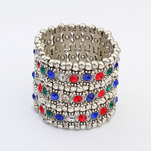 Wholesale new arrival women fashion jewelry no.SC116721 bright rhinestone decorated elastic bead fashion bracelet