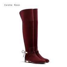 Talón del metal del navidad las botas botas chelsea mujeres