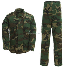 BDU woodland color camouflage army uniforms