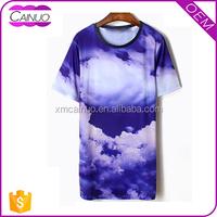 Dyed Sublimated Tshirt Long Tall Tee Shirts Big Sizes