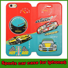 Sports car leather case cover for iphone 6 4.7 mobile phone case