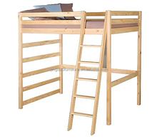 simple loft kids bed pine solid wood bedroom furniture set HJB-1239