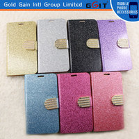 Bling Bling Wallet Flip Leather Case With Diamond For Galaxy S5 i9600 Diamond Case