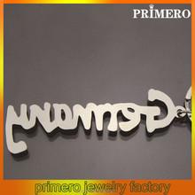 PRIMERO Wholesale Custom name key chains Zinc alloy ligatures Keychain engraved name key chain