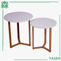 Yasen Houseware Wood Table Leg Round Side Table Ready To Assemble Bedroom Furniture