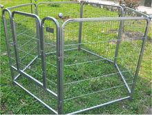 strong steel bar pet cage,sloping dog cages .