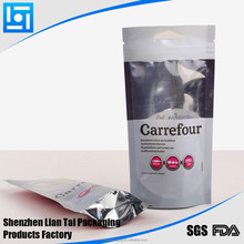 2015 hot sales stand up pouch with zipper for Carrefour Market