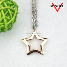 Mingfu best sale rose gold shiny star best friend forever pendant
