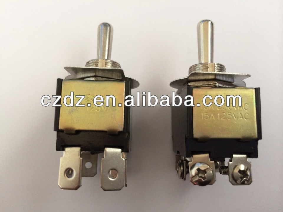 DPST ON-OFF auto reset toggle switch,6 pin 3a 12v toggle switch