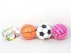 Plastic 3inch kids funny football basketball volleyball toy 3 pcs ball toys sport