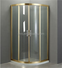 (871) champagne gloden color sliding shower enclosure custom made