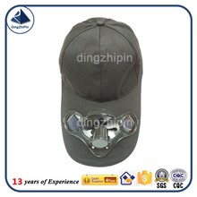 Plain colour solar fan baseball hat manufacturer