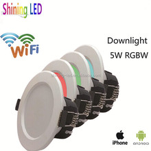 Professional China Supplier Smart Wifi Control Dimmable 5W RGBW LED Downlight