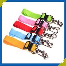 Black/Blue Polyester Webbing Dog Pet Car Safety Harness Seat Belt Restraint