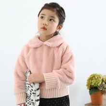 2015 autumn South Korea soft materials girls coat child jackets new children girls coat and kids Sweater autumn child clothes