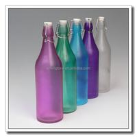 domestic decorative swing clip glass bottle