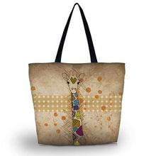 Giraffe Portable Eco Reusable Shopping Bag Grocery Shoulder Bag Handle Tote