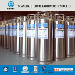 2015 SEFIC Brand Newly Designed DOT/GOST High Pressure Stainless Steel Liquid Cylinder