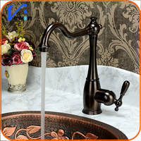 2015 New hot cold water single handle chrome copper kitchen tap