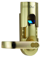 Satin Brass or Zinc Alloy biometric fingerprint door lock