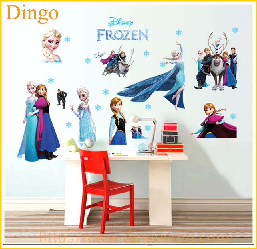 Good Frozen Wall Stickers Wholesale Elsa Queen And Snowflake Bedroom Decoration  Stickers ...