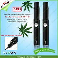 Custom logo for 3 in 1 vaporizer pen kit gold/MP 3 in 1 vaporizer pen/CBD oil&dry her&wax 3 in 1 vape pen