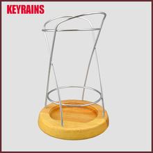 Grande <span class=keywords><strong>de</strong></span> metal utensilio <span class=keywords><strong>de</strong></span> madera titular para cortador