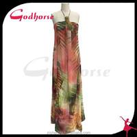 2015 new style printed wedding dress fabric, flower women dress