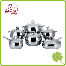 stainless steel induction cookware set removable handle