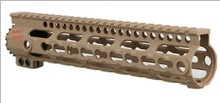 removable rail free floating keymod quad Rail handguard sand color 10 AR15 scope accessories