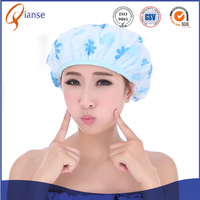 Customized wholesale OEM waterproof disposable hair PE hotel ear plastic adult children bady bathing shower cap for babies