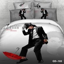 King bedroom set modern Cool Michael Jackson 3D Bedding Set