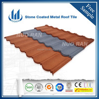 NUORAN interlocked aluminum metal roof sheet/synthetic spanish blue roof tile