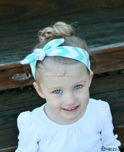fashion summer baby turban headband with bow