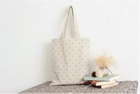 TT0005 Reshine Classical Standard Size Cotton Canvas Tote Bag Printing Linen Shopping Bag