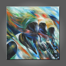 High Quality Low Price Abstract Africa Musical Instrument Oil Paintings On Canvas