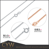 CYW Jewellery Accessory 16/18 Inch cross design 925 Sterling Silver Necklace Chain