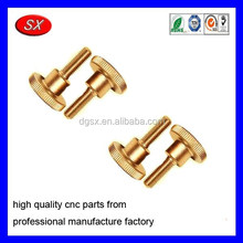 customized gold plated brass knurled screw oil testing mass spectrograph part