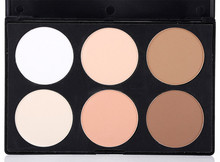 Hot Sell Cosmetic 6 Color Makeup Powder foundation, Face Powder